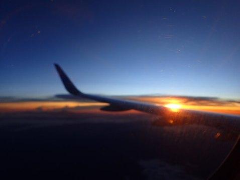飛行機からの眺め(アエロメヒコ)1