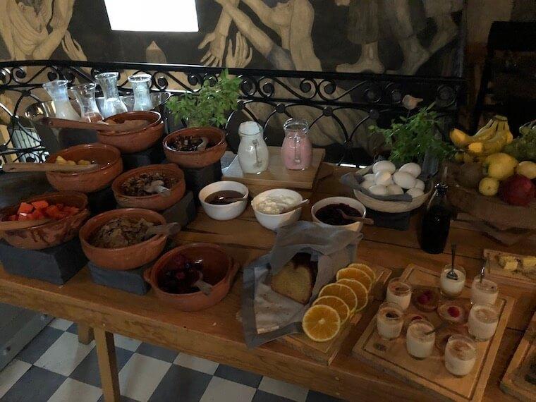 メキシコシティのホテルの朝食ビュッフェ2
