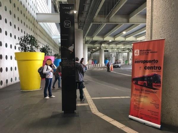 メキシコシティ第2ターミナルのメトロバス乗り場2