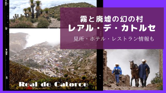 レアルデカトルセ(Real de Catorce)の紹介