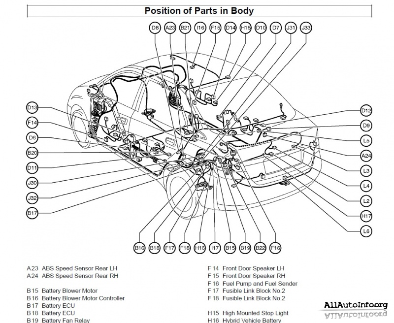 2013 Toyota Prius Body Parts Diagram Html