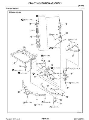 Infiniti M35-45 Y34 Y50 Service Manual (2003-07)