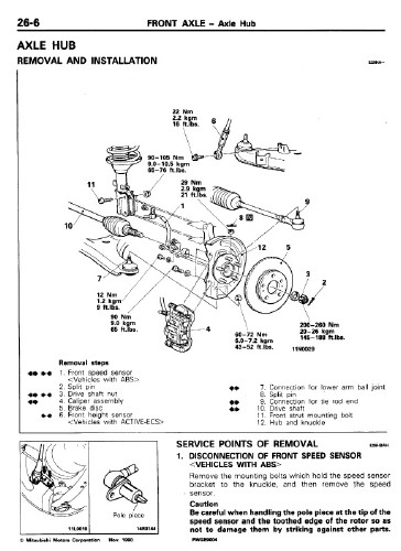 Mitsubishi Sigma Diamante F16 1991-1995 Workshop Manual