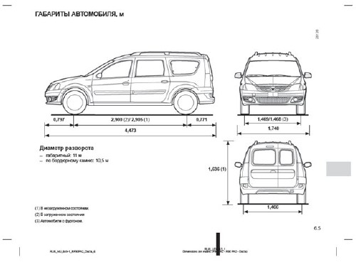 Руководство по эксплуатации Lada Largus (Logan MCV)