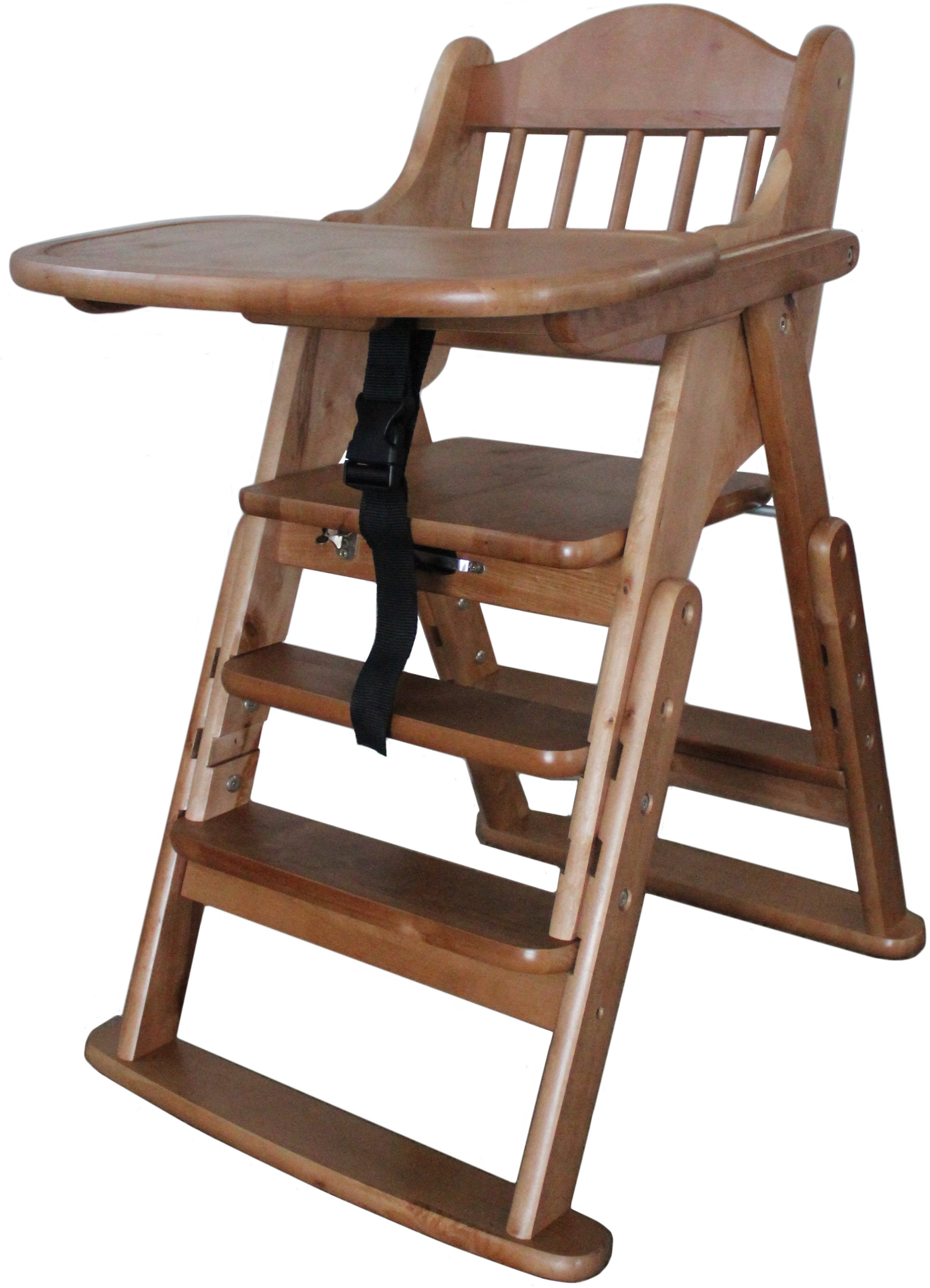 Wooden High Chairs For Babies Multifunction Solid Wood High Chair Front Bar Food Tray High