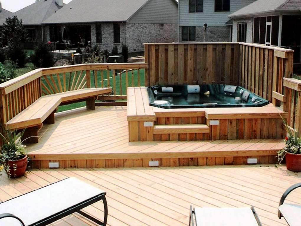 Pros Of Building A Hot Tub Deck  Backyard Design Ideas