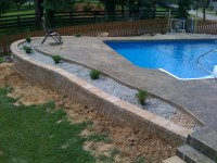 Inground Pool With Deck | Backyard Design Ideas