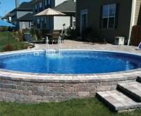 Semi Inground Pool Decks | Backyard Design Ideas