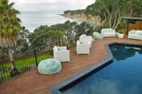 Wood Deck Around Inground Pool | Backyard Design Ideas