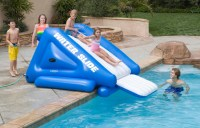 Backyard Inflatable Water Slides Pool | Backyard Design Ideas
