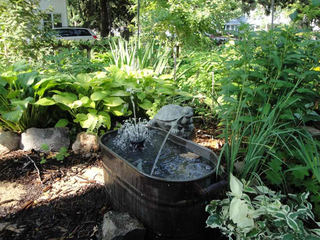 Backyard Landscaping With Water Fountains