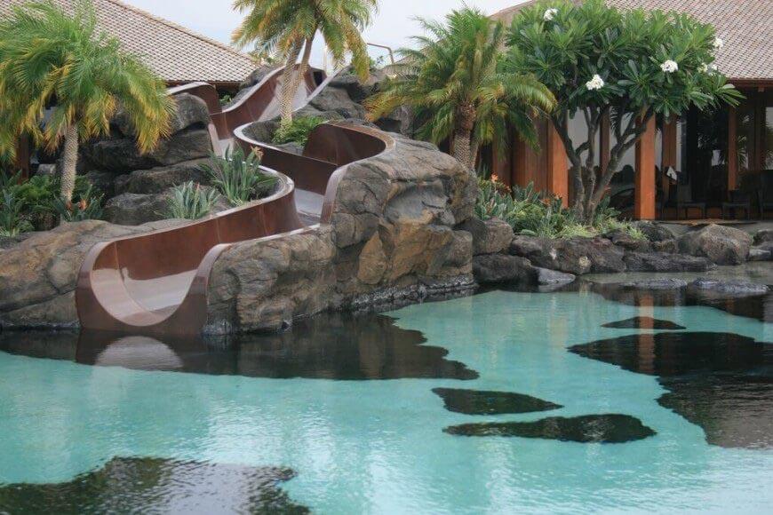 Backyard Swimming Pool Slides