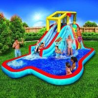 Banzai Splash Blast Lagoon Inflatable Outdoor Water Slide ...