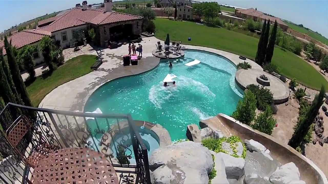 Big Backyard Pool Slides  Backyard Design Ideas