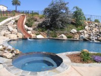 Backyard Swimming Pools With Slides Photos