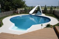 Water Slide Backyard Pool | Backyard Design Ideas