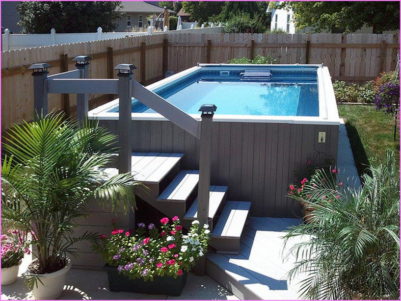 Above Ground Pool Ideas For Small Backyard