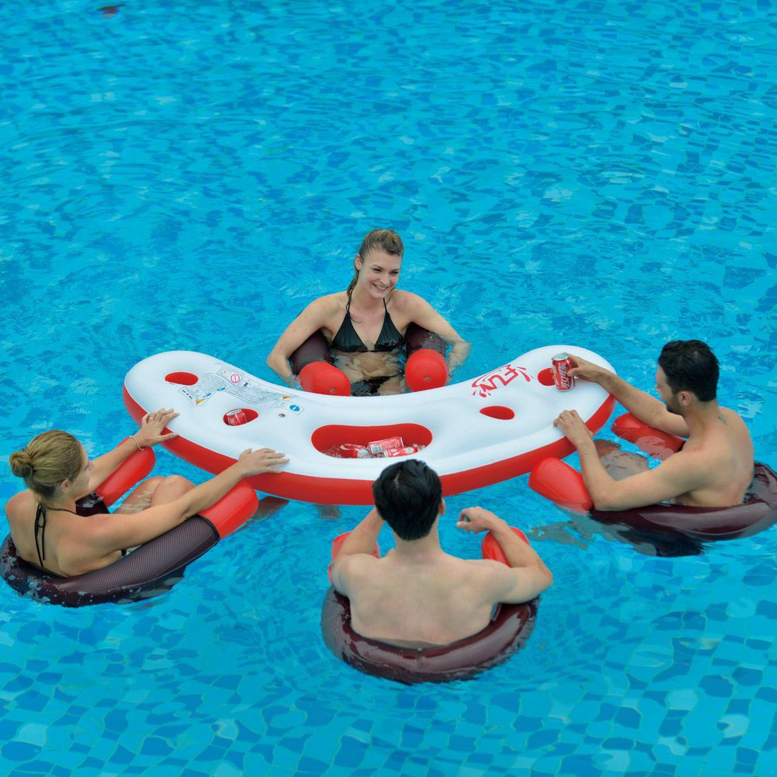 inflatable water chairs for adults steel chair in wrestling floating pool bar with seats backyard design ideas