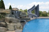 Pools With Slides And Waterfalls | Backyard Design Ideas
