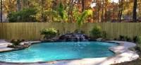 Rock Waterfall For Pool | Backyard Design Ideas