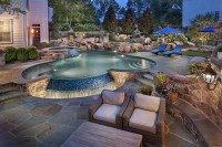Rock Waterfalls For Swimming Pools | Backyard Design Ideas