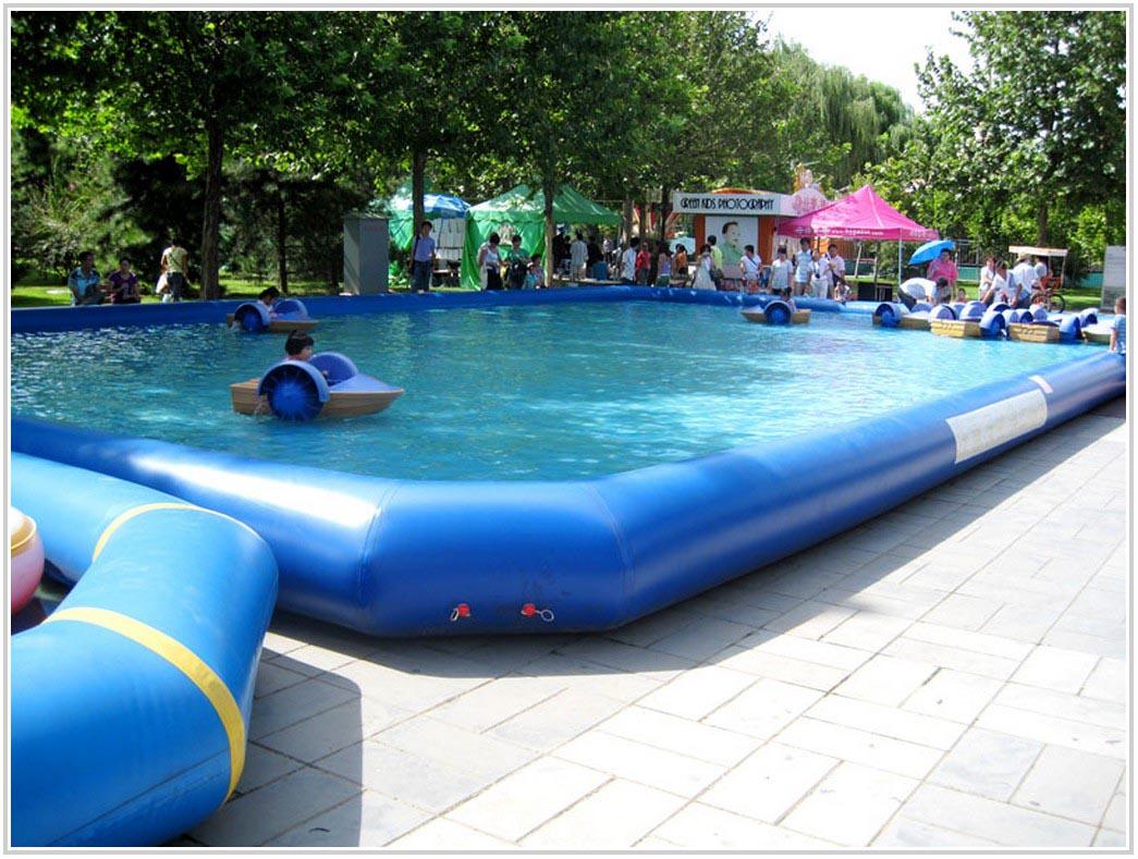 Small Inflatable Swimming Pool  Backyard Design Ideas