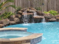Swimming Pool Waterfall Designs Captivating Backyard ...
