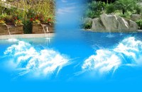Swimming Pool With Waterfall | Backyard Design Ideas