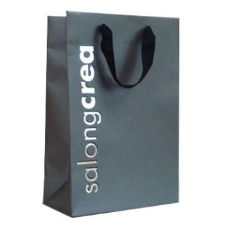 Ribon Handled Bag with Silver Foil
