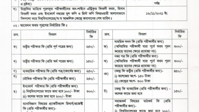 Nu Honours 4Th Year Special Exam Form Fill Up 2021
