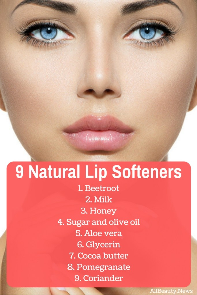 Natural lip softeners