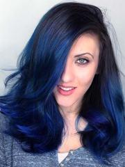 blue black hair dye 2019