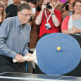 bill gates giant ping pong paddle