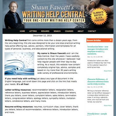 writing - responsive website design