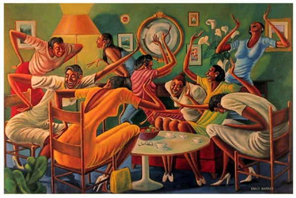 Good Times Painting Ernie Barnes