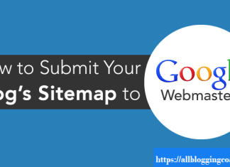 submit your Blog sitemap to Google