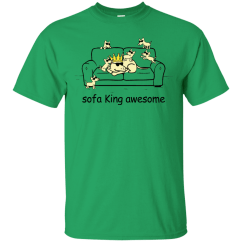 Sofa King Awesome T Shirt Southern Motion Sectional Dogs Hoodie Allbluetees