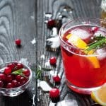 Fresh Antioxidant Rich Cranberry Juice