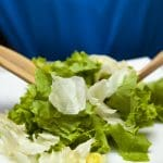 Onion and Garlic Green Leaf Salad with Sea Salt