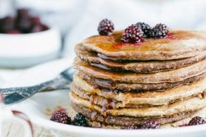 Blackberry Protein Pancakes