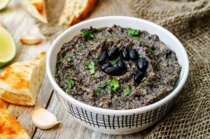 Celery and Spicy Black Bean Hummus