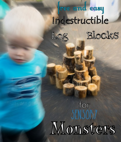 Do you have a Sensory Crushing Compactor Machine for a child? Here are some simple blocks even your Sensory Monster can't destroy!