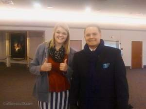 A family friend Stephanie, ran into Elder Hoffman at General Conference last evening!!