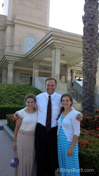 Mike, Emily and Anna at the Temple in the Dominican