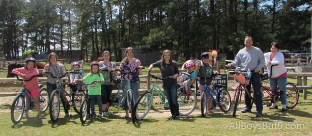 family biking Chincoteague and Assateague!