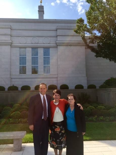 Mike, CaMarie and Sis. Rockey at the Palmyra Temple