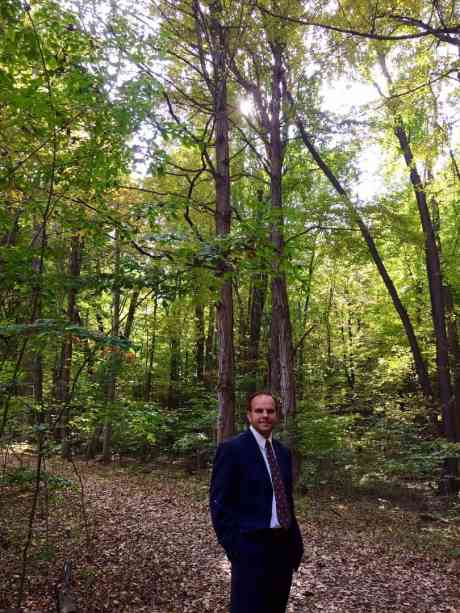 Michael in the Sacred Grove.