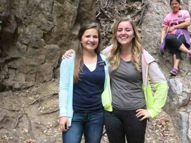 Emily and her missionary companion enjoying a p-day in CA