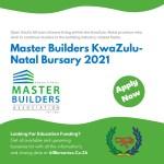 Master Builders KwaZulu-Natal Bursary
