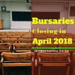 South African Bursaries Closing in April 2018